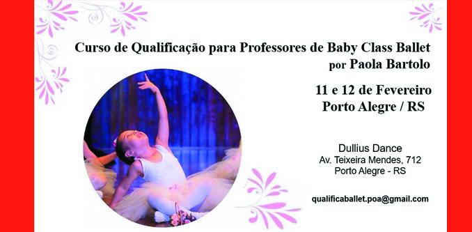 Curso de Qualificação para Professores de Baby Class Ballet
